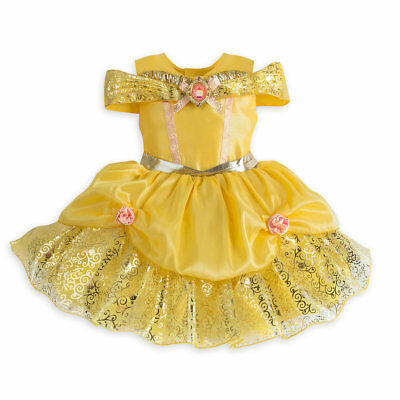 NWT Disney Store Belle Deluxe Costume Baby 3-6-12-18-24M  Beauty and the Beast