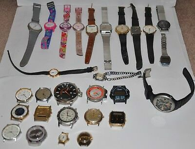 Job Lot Bundle Collection Of Mens Gents Ladies Watches For Spares Or Repair