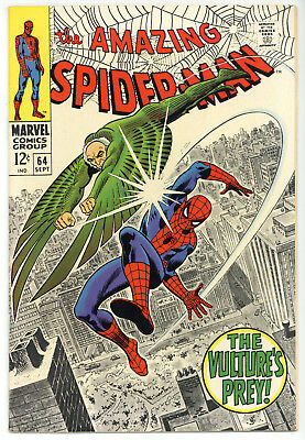 AMAZING SPIDERMAN #64 7.5 VF- WHITE -STRICTLY GRADED- Hi-ReZ Scan FREE SHIPPING