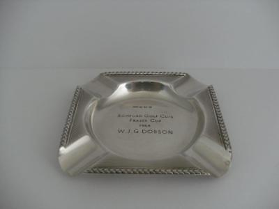 SOLID SILVER ASHTRAY Birmingham 1963