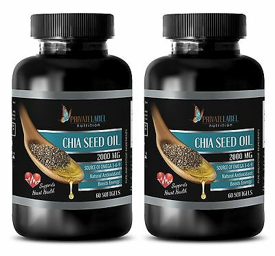Fish oil - CHIA SEED OIL 2000mg - 2 Bottles 120 Softgels