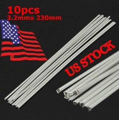 10X Low Temperature Aluminium Welding Soldering Brazing Repair Rods 3.2x230mm US