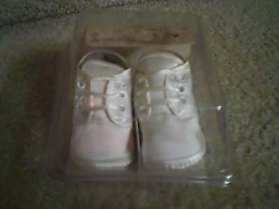 PREEMIE Baby WHITE Christening Shoes Size 00 up to 6 pounds - New