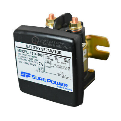 Sure Power 1314-200 - Uni-Directional Battery Separator - 12V 200A