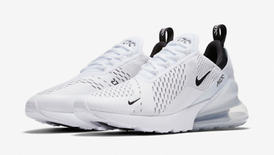 Nike Men's Air Max 270 Running Shoes AH8050-100 Triple White Whiteout