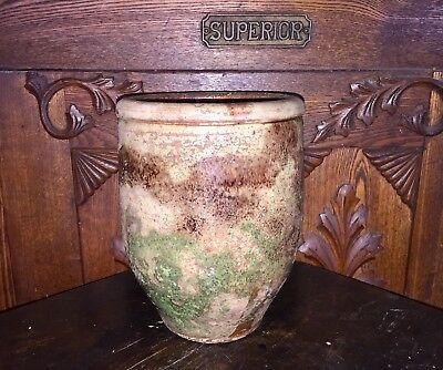 Small Multi-Glaze Decorated Crock/Jar Redware Earthenware Stoneware Virginia