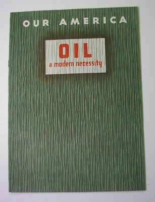COCA-COLA on OIL INDUSTRY in 1942! promotional booklet for school children