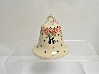 Boleslawiec Polish Pottery Large BELL Holiday Bells Pattern Christmas Ornament