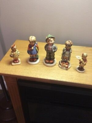 LOT OF 5 GOEBEL HUMMEL  Figurines 3 1/2 to 5 1/2 inches tall NR