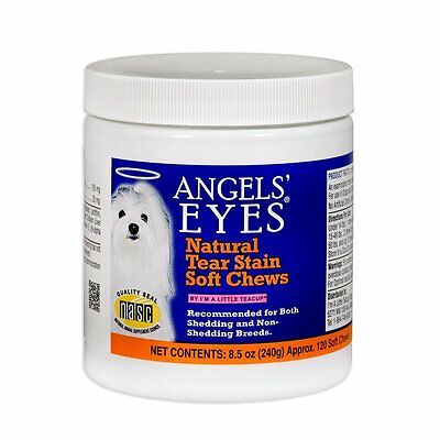 Angels' Eyes Natural Tear Stain Eliminator Remover - CHICKEN (8.5 oz)(120 Count)