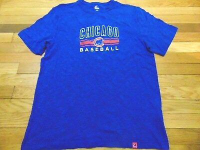 2ebdba1ade5 New Majestic Mlb Chicago Cubs Blue T-Shirt Size L