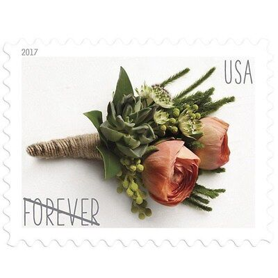 One Book Of 20 Flower Rose Love Wedding Usps First Class Forever Postage Stamps