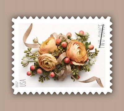 One Book Of 20 Flower Love Wedding Usps First Class Forever Postage Stamps 2 Oz