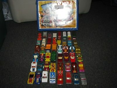 Lot Collection of 48 Vintage Matchbox Cars with Case Superfast Lesney