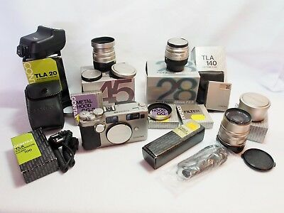 Contax G2 35mm film camera with 28mm, 45mm, 90mm lenses and many extras - USA