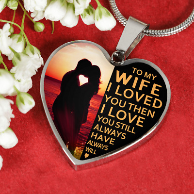 To My Wife I Loved You Husband Luxury Silver Necklace Anniversary Birthday Gift