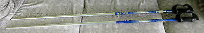 "Kerma Krilial 7020 Racer Ski Poles Blue 125cm 50"" Made in France"