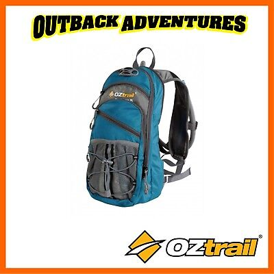 Oztrail Blue Tongue 2 Litre Hydration Pack Hiking Back Pack Bladder New Green 2L