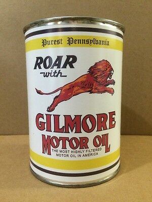 Gilmore Motor Oil Can Rare Empty Quart Gas sign Reproduction Vintage Style