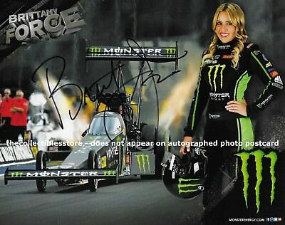 Brittany Force Signed Promo Hero Card Nhra Photo Autographed 2019