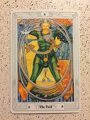 Aleister Crowley Thoth Tarot LARGE Deck THE FOOL (Individual Card)