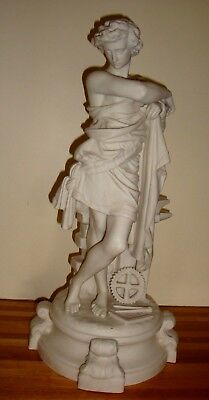 Parian Figure Of Industry Rare Piece 50Cms Tall Possibly Robinson And Leadbeater