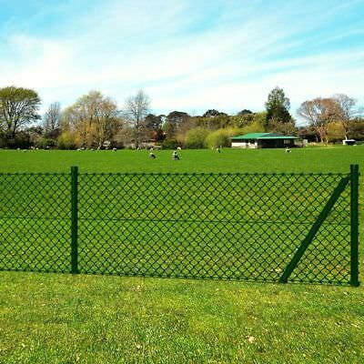 Chain-Link Fence With Fittings 1.0 x 15 M Set
