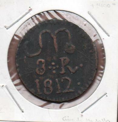 Mexico 1812 Oaxaca 8 Reales Sud General Morelos, Cross Of Points, Roman Numerals