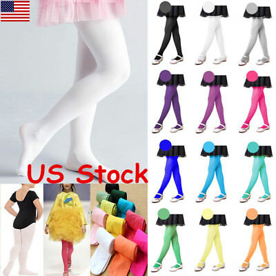 Pantyhose Baby Tights Students Kids Childrens Girls Dance Socks Ballet Tights US