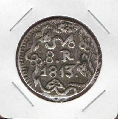 Mexico 8 Eight Reales 1813 Silver, General Morelos, Extremely Scarce & Rare.