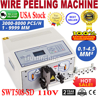 Automatic Computer Wire Stripping Machine Stripper Cutter Peeler 0.1-4.5 m㎡ CE
