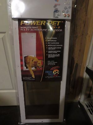 Power Pet Electronic Automatic Motorized Dog Door High Tech PX2 Large  31 100 Lbs