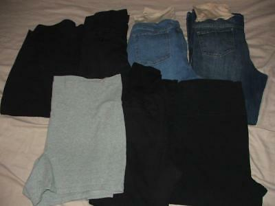 Huge Womens Xl And Xxl Maternity Pants Jeans Capri Short Lot Euc