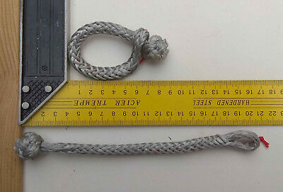 Pack of 2 Silver 5mm soft Dyneema® shackles weight: 11gr! with quick release tag