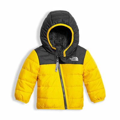 NEW The North Face INFANT REVERSIBLE MOUNT CHIMBORAZO HOODIE, Yellow 12-18M