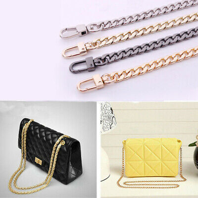Flat Metal-Replacement Chain for Shoulder Bag Handbag Strap Cross Body 100cm
