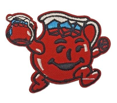 Kool Aid Man Pitcher embroidered iron on sew on patch retro vintage style USA