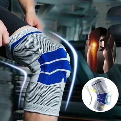 Sports High Compression Padded Knee Support Sleeve Nylon Silicon Brace