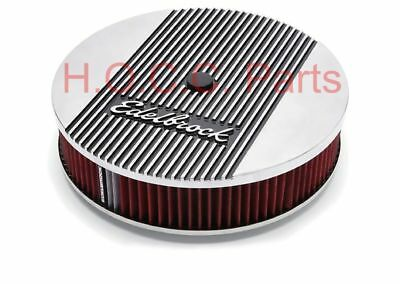 "TOP Aluminium Luftfilter 14"" Vergaser Holley Edelbrock Dodge Ford Chevy Autolite"
