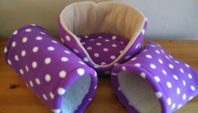 SALE -guinea pig / rat / hamster / pygmy hedgehog -Snuggle bed, tunnel & pouch