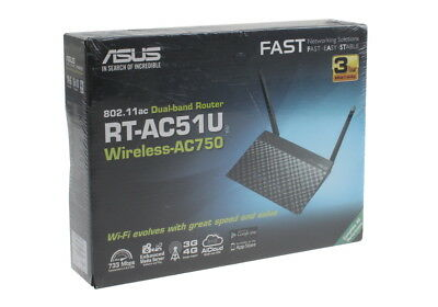 Asus RT-AC51U Dual Band Router Wireless-AC750