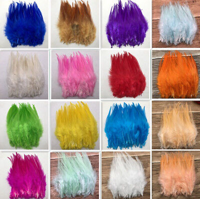 Beautiful 50pcs/100pcs rooster tail feathers 10-15cm / 4-6inch diy(17colour)