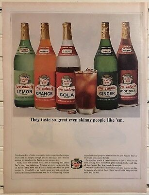 Vintage 1964 CANADA DRY Advertisement Ginger Ale Club Print Ad 1960's