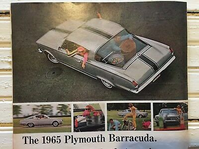 1965 Plymouth Barracuda Advertisement 1964 Photo Vintage Muscle Car Print AD