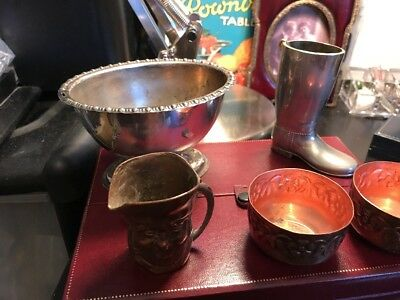 Vintage Job Lot EPNS Brass and Copper Items