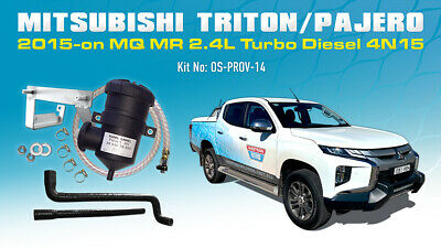 Mann ProVent Catch Can Filter Kit for 2015 Mitsubishi Triton MQ 2.4 Pajero Sport