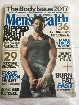 MEN'S HEALTH Magazine August 2017 - Joe Manganiello  - Fitness Weightloss New