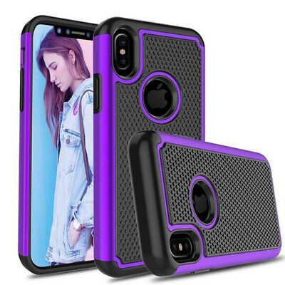 For Apple iPhone 8 6s Plus Case Luxury Hybrid Rugged Silicone Armor Hard Cover