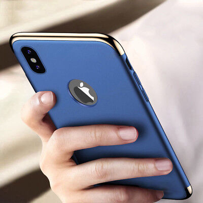 For Apple iPhone X 10 Hybrid Shockproof Ultra Thin Armor Hard Bumper Case Cover