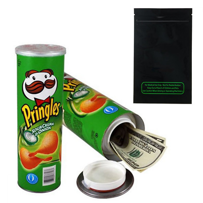 Pringles Sour Cream Diversion Safe Stash Can Storage w/ FREE Smell Proof Bag